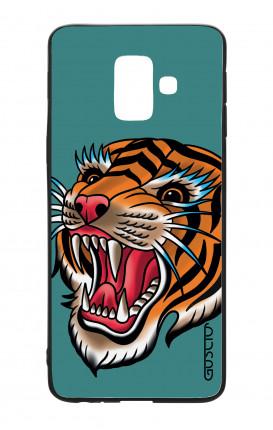 Cover Bicomponente Samsung J6 2018 WHT - Tigre Tattoo su ottanio