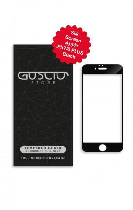 Tempered Glass SilkScreen Apple iPhone 7/8 Plus BLK - Neutro