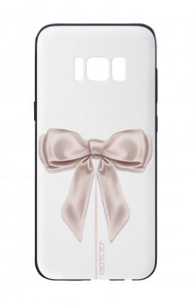 Cover Bicomponente Samsung S8 Plus - Fiocco di raso bianco