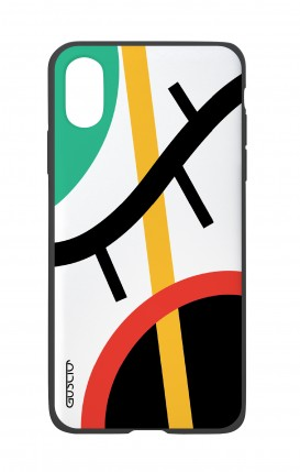 Apple iPhone XR Two-Component Cover - White Abstract