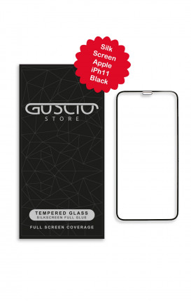 Tempered Glass SilkScreen - Apple iph11 BLK - Neutro
