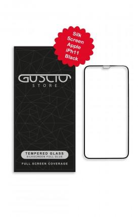 Tempered Glass SilkScreen - Apple iph11 BLK - Neutro