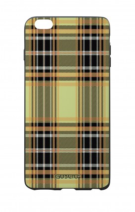 Apple iPhone 7/8 Plus White Two-Component Cover - Yellow tartan