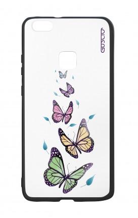 Cover Bicomponente Huawei P9Lite - Farfalle e foglie