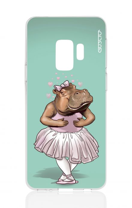 Cover Samsung Galaxy S9 Plus - Fiori su bianco