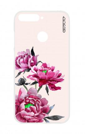 Cover Apple iPhone 7/8 - Tigre e fiori bianchi