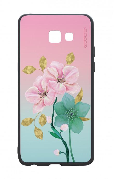 Cover Bicomponente Samsung A6 Plus WHT - Farfalle su bianco