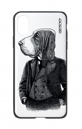 Apple iPhone XR Two-Component Cover - Dog in waistcoat