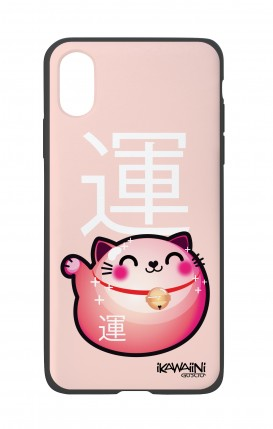 Apple iPh XS MAX WHT Two-Component Cover - Japanese Fortune cat Kawaii