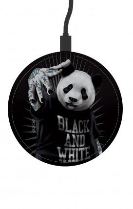 Round Wireless Charger - B&W Panda