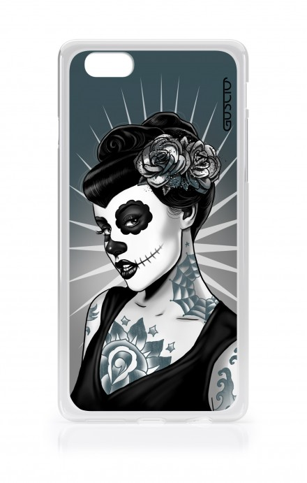 Cover TPU Apple iPhone 7/8 Plus - Calavera bianco e nero