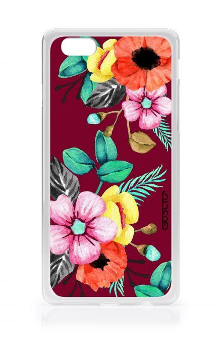 Cover Apple iPhone 7/8 Plus TPU - Burgundy Bouquet