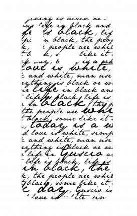 Cover Huawei P20Lite - Scritte in bianco e nero
