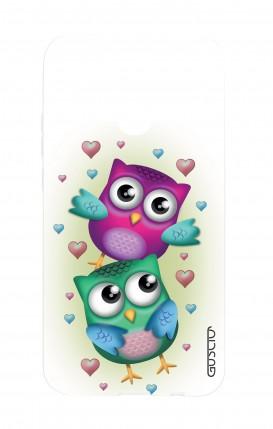 Cover Huawei P20Lite - Coppia di gufi