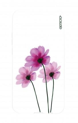 Cover Huawei P20Lite - Fiori su bianco