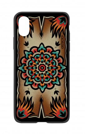 Cover Bicomponente Apple iPhone XR - Old school Tattoo frame