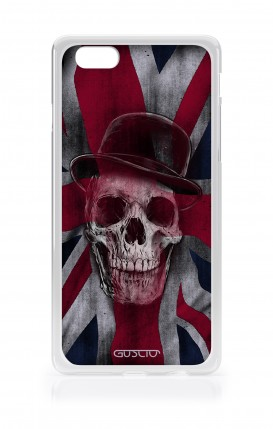 Cover Apple iPhone 7/8 Plus TPU - Teschio su bandiera inglese