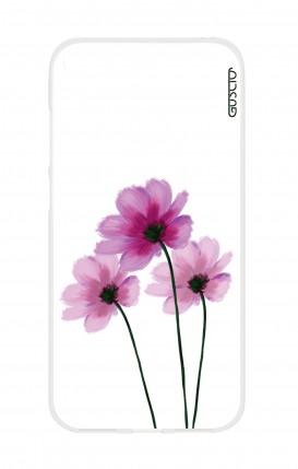 Cover Huawei Y6 2018 Prime - Fiori su bianco