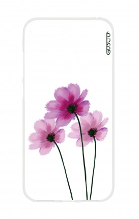 Cover HUAWEI Y6 2018 Prime - Flowers on white