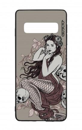 Cover Bicomponente Samsung S10Plus - Sirena con teschi