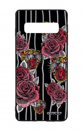 Samsung S10Plus WHT Two-Component Cover - Roses and Tigers Tattoo
