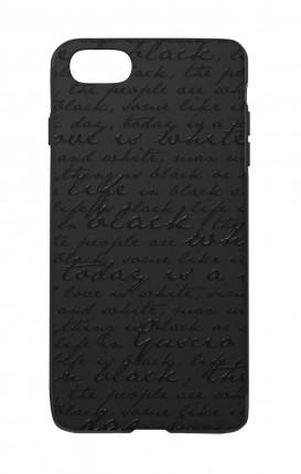 Cover Skin Feeling Apple iphone 7/8/SE BLACK - Scritte in bianco e nero