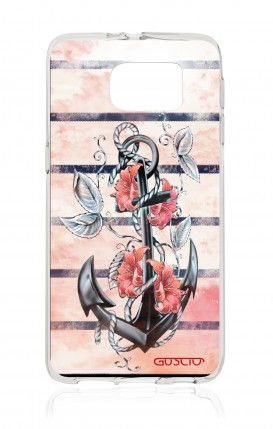 Cover Samsung Galaxy S6 - Anchor and flowers