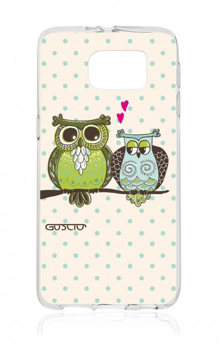 Cover TPU Samsung Galaxy S6 - Gufi innamorati