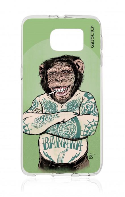 Cover TPU Samsung Galaxy S6 - Scimmia tatuata