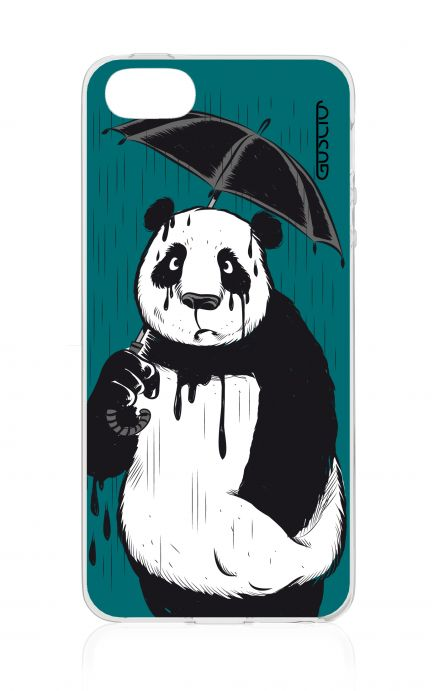Cover Apple iPhone 5/5s/SE - Panda con ombrello