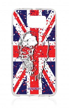 Cover Samsung Galaxy S6 Edge SM G925 - Union Jack Skull