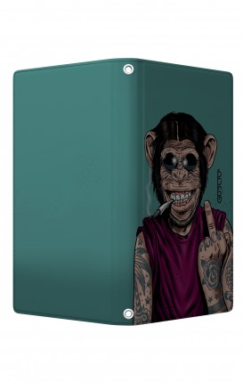 "Cover Universal Casebook MEDIUM/LARGE for 5.0""-5.2"" display - Chiusura Magnetica - Scimmia felice"