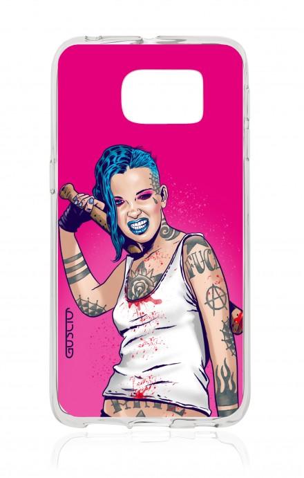 Cover Samsung Galaxy S6 Edge SM G925 - Girl in Turqoise