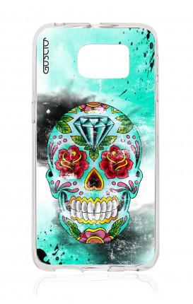 Cover Samsung Galaxy S6 Edge SM G925  - Calavera Batik