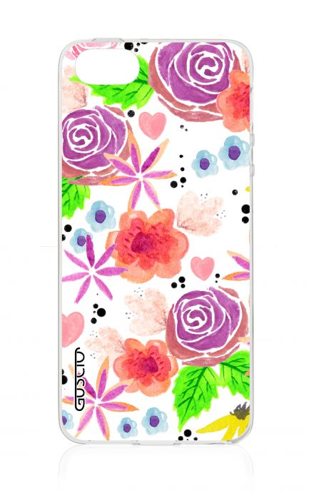 Cover Apple iPhone 5/5s/SE - Fiori bianchi