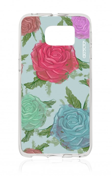 Cover Samsung Galaxy S6 Edge SM G925 - Romantic roses