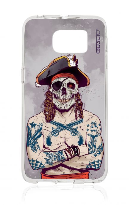 Cover TPU Samsung Galaxy S6 Edge - Teschio pirata