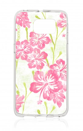 Cover Samsung Galaxy S6 Edge - Fiori hawaiani