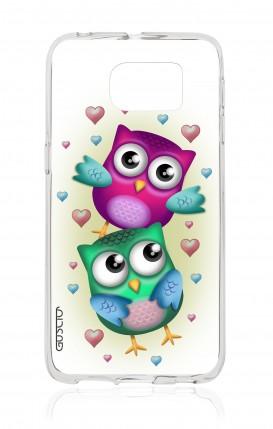 Cover Samsung Galaxy S6 Edge - Coppia di gufi