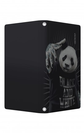 "Cover Universal Casebook MEDIUM/LARGE for 5.0""-5.2"" display - Chiusura Magnetica - Panda rap"