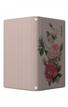 """UNV BOOK Case M/L 5.0-5.2"""" display - Magnetic - Roses and stripes"""