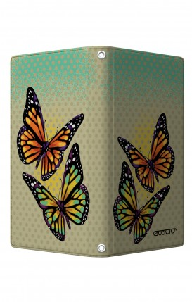 """UNV BOOK Case M/L 5.0-5.2"""" display - Magnetic - Polka dot and butterflies"""