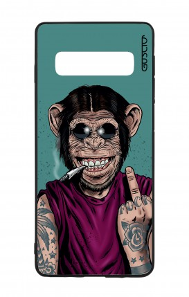 Cover Bicomponente Samsung S10Plus - Scimmia felice