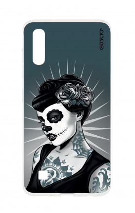 Cover TPU Samsung A50/A30s - Calavera bianco e nero