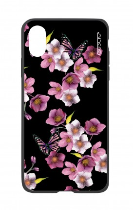 Apple iPh XS MAX WHT Two-Component Cover - Cherry Blossom