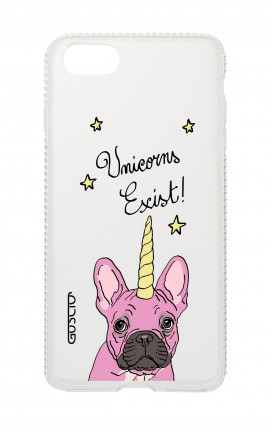 Cover Diamonds Apple iPh7/8 Plus  - Unicorns Exist bianco