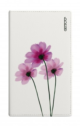 "Cover Universal Casebook MEDIUM for 4.7""-5.1'' display - Fiori su bianco"