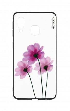 Samsung A20e Two-Component Cover - Flowers on white