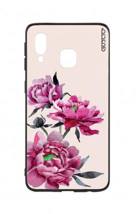 Cover Bicomponente Samsung A20e - Peonie rosa