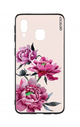 Samsung A20e Two-Component Cover - Pink Peonias